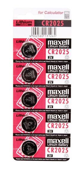 Bateria Cr2025 3v Maxell Blister 5 Unidades