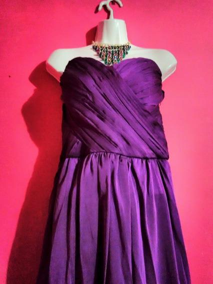 Vestido Largo Noche - Morado Púrpura Talla 11 - 13