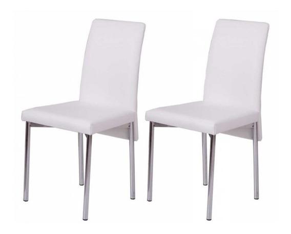 Conjunto 2 Cadeiras Don Gabriel Carraro Couro Branco G