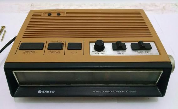 Radio Relógio Sanyo Rm-5500 Sem Garantia Raro Decoração