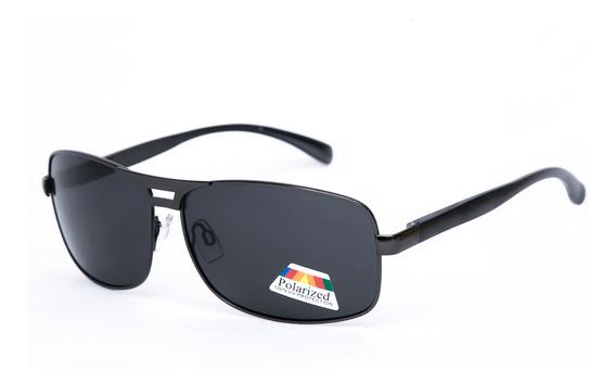 Óculos De Sol Keda Masculino Preto Polarizado Quadrado 002cp