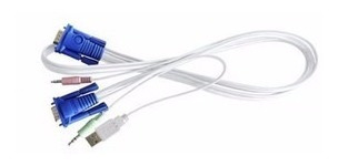 Cabo 4 Em 1 Kvm 1,8 Metros Gts Network Cpu Switch Usb
