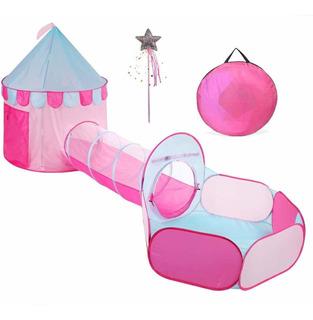 Truedays 3en 1castillo De Princesas Play Tienda De Camp