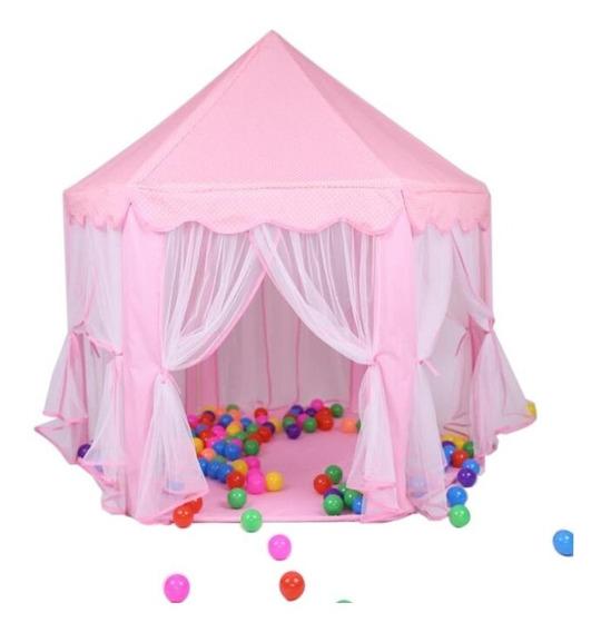 Castelo Princesa Tenda Cabana Toca Rosa Infantil Hexágono