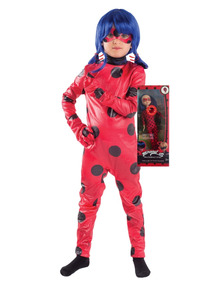 Disfraz Ladybug Original + Muñeca 30 Cm Sonido Envio Gratis