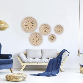 5 Mandalas Cuadros Decorativos Pared Corte Laser Mdf Pintar