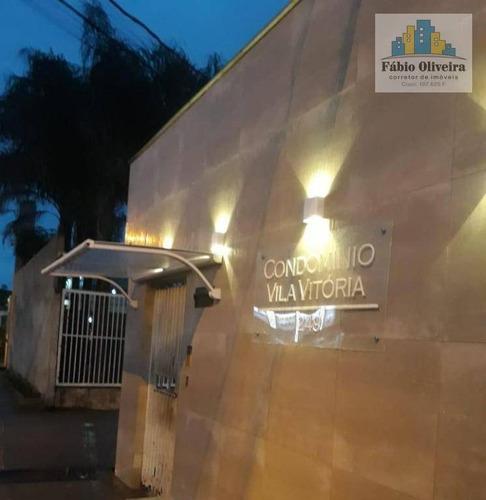 Sobrado Condômino Vitoria ,com 3 Dormitórios À Venda, 84 M² Por R$ 280.000 - Vila João Ramalho - Santo André/sp - So0452
