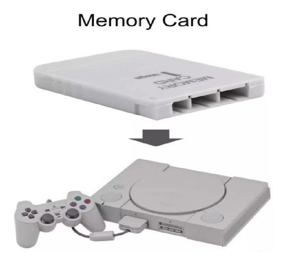 Memória Memory Card Ps1 Psone Psx Playstation Tijolão Baby