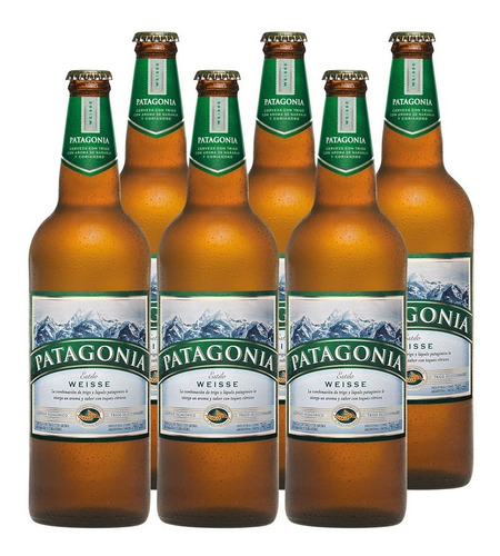 Cerveza Patagonia Weisse 740 Cc Pack X6