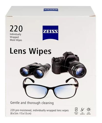 220 Paños Humedos Zeiss Limpieza Gafas Lentes Camara Wipes