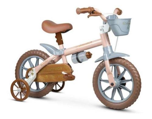 Bicicleta  infantil Nathor Mini Antonella Antonella aro 12 freio tambor cor rosa