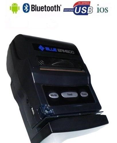 Mini Impressora Térmica Portátil Bluetooth Blue Ifood P25 I