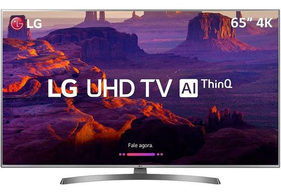 Smart Tv Led Lg 65 65uk6530 Ultra Hd 4k Intelig Artf- Prata