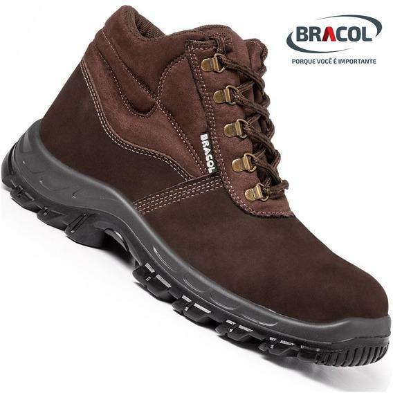 Calçado De Proteção Nobuck Bracol® Marrom/café- Original