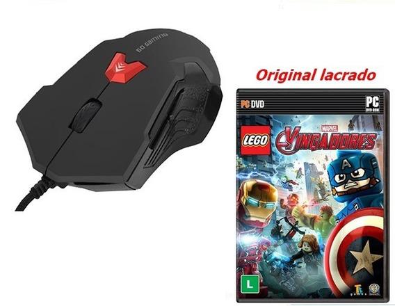Mouse Gamer Bright 2400 Dpi Usb 6botões + Vingadores Br - Pc