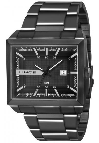 Relógio Lince Mqn4267s P1px Masculino Preto Retang- Refinado