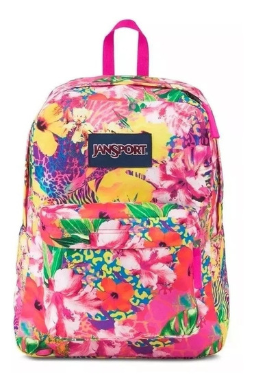 Mochila Jansport Superbreak Tropical Mania 25 Litros Full