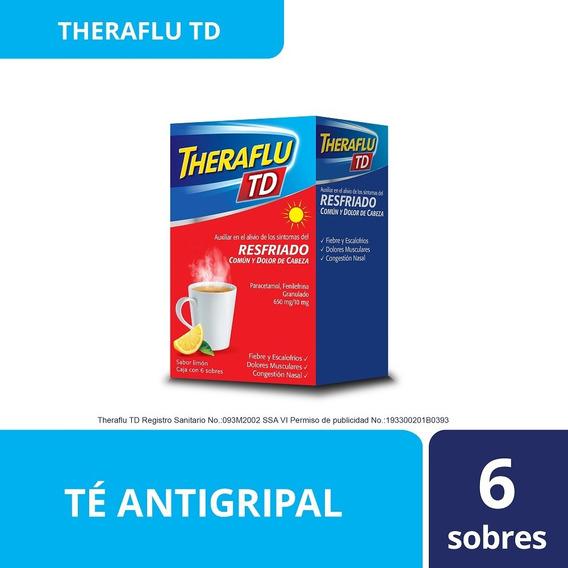 Te Antigripal Día Sabor Miel-limon 6 Sobres Theraflu