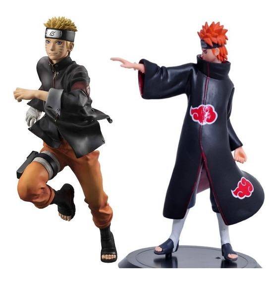 Naruto Shippuden E Pain 2pçs Figuras De Açao
