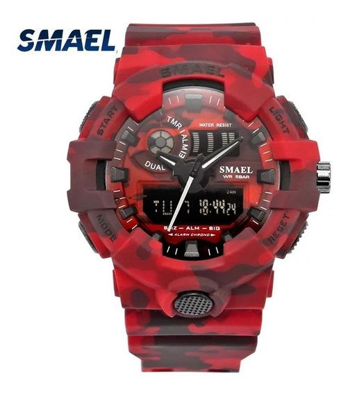 Relógio Esportivo Digital Shock Camuflado Smael 8001