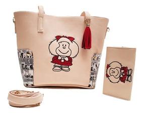 Bolsa Y Cartera Mafalda Bordada