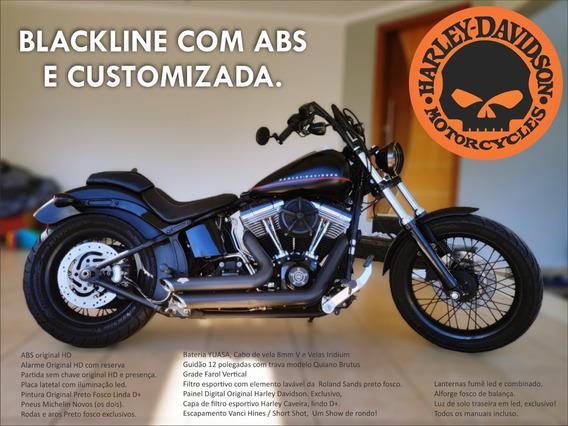 Harley Davidson Blackline Fxs 12/12 Customizada, Única!