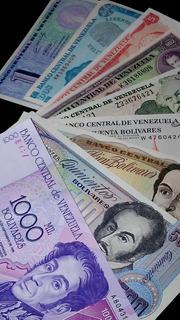 Oferta Set De 9 Billetes De Venezuela Au-unc Sin Circular