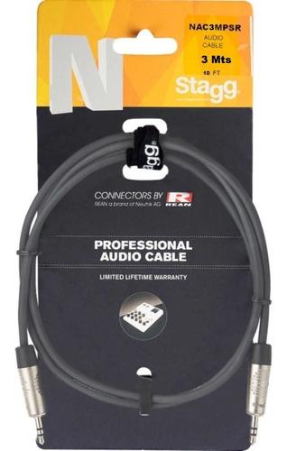 Imagen 1 de 8 de Cable Armado 3mts Stagg Miniplug A Miniplug Nac3mpsr Oferta!