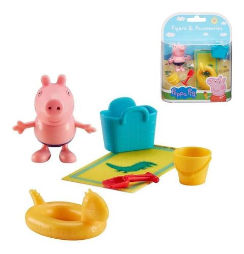 Imagem 1 de 3 de Boneca Peppa Pig Jorge 4,5 Cm E Acessórios Brinquedo Sunny