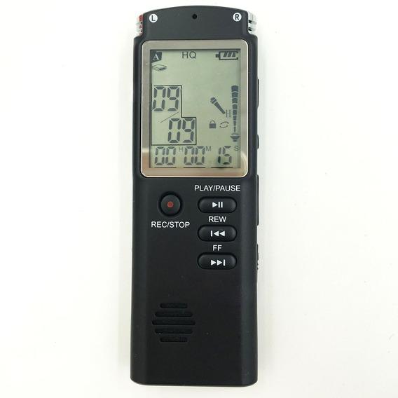 Gravador De Voz Digital 8 Gb Memória Microfone Embutido