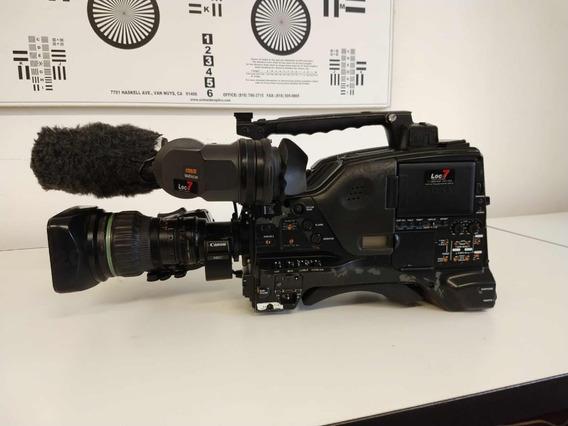 Câmera Sony Xdcam Pdw-700 C/ Lente Canon Kj17 Duplicada
