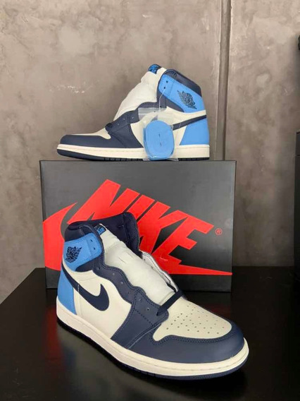 Sneakers Original Jordan 1 Retro High Obsidian Unc Original