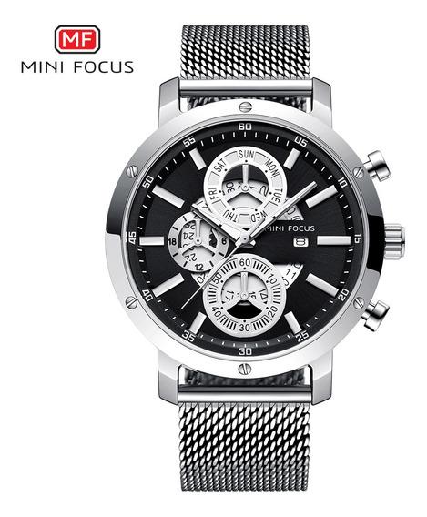 Mini Focus Mf0190g Homem Relógio De Quartzo À Prova D