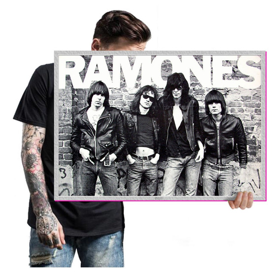 Quadro Placa Banda Ramones Rock Heavy Metal Tam A2 16