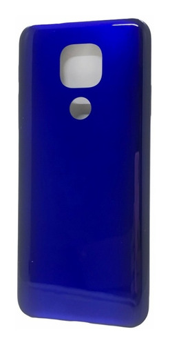 Tampa Traseira Moto G9 Play Xt2083-1 Azul C/botões Original