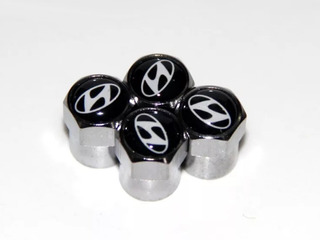Set 4 Tapa Valvulas Metalicas Hyundai