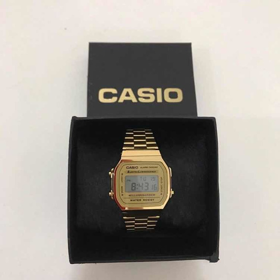 Relogio Casio Vintage Digital Unissex Dourado