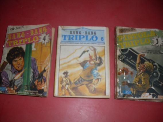 Lote De 3 Livros De Bolso - Faroeste Triplo