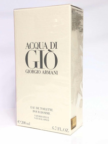 Perfume Armani Aqua Di Gio 200ml Eau De Toilette+amostra