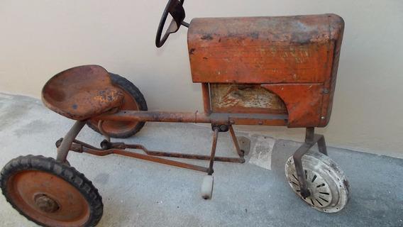 Trator Pedalcar Anos 40/ 50 Brinquedo Antigo