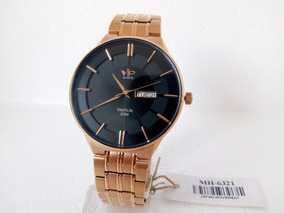 Relógio Masculino Vip Quartz Social Slim Luxo Original