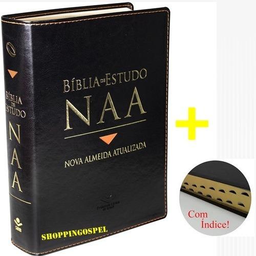 Bíblia Estudo N A A Nova Almeida Atualizada + Índice + Caixa