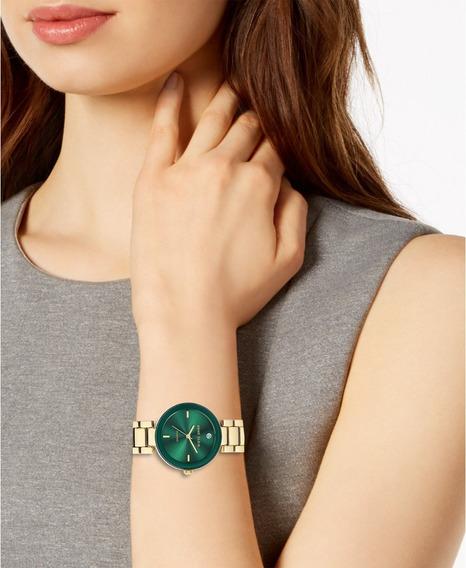 Reloj Anne Klein Mujer Genuine Diamond Dial Ak/1362gngb