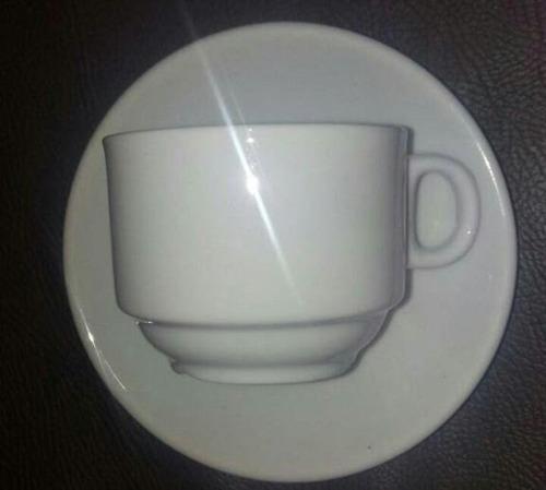 Taza /plato Ceramica Blanca 3 Oz Espresso Cafe Pequeño Kasas