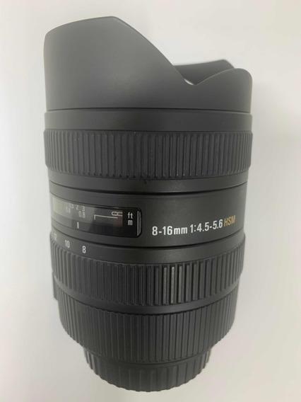 Lente Sigma Para Canon 8-16 Mm 1:4.5-5.6 Hsm