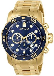 Reloj Invicta 0073 Acero Con Emchape De Oro 18k Original