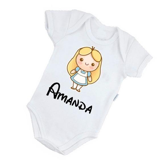 Body Alice No Pais Das Maravilhas - Personalizado