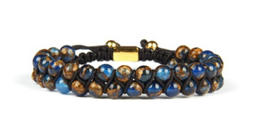 Pulsera Hombre Mujer Ajustable Onix Blue Planet