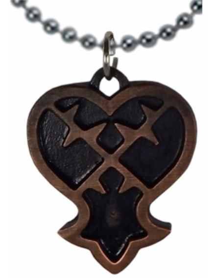 Kingdom Hearts Dije Collar Llavero Heartless Corazon