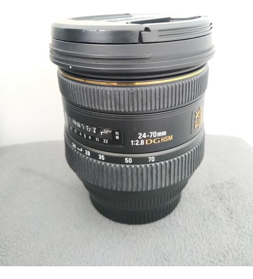 Lente Sigma 24-70mm F/2.8 (canon)